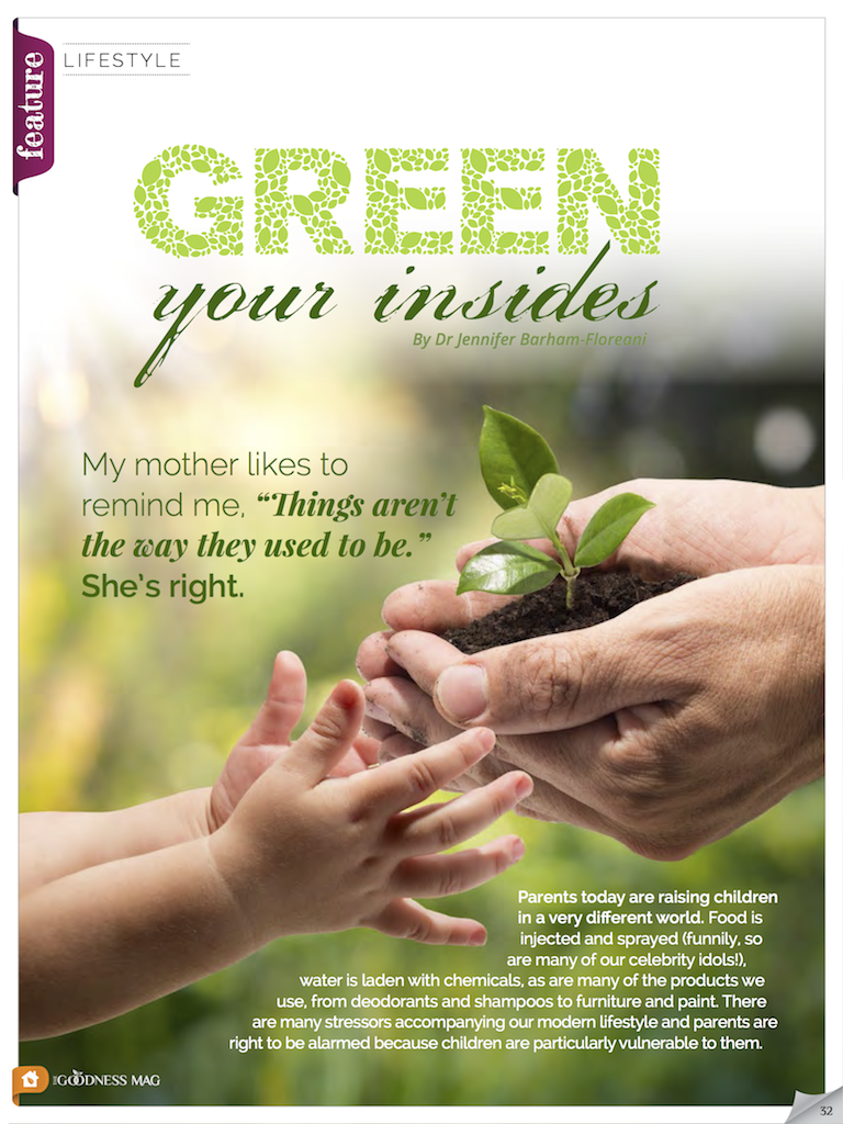Living organic with children – green your insides
