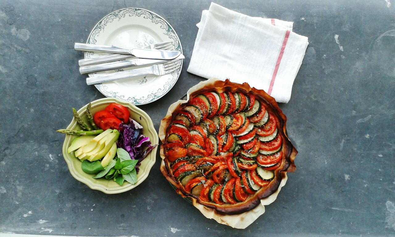 Tomato and zucchini pie - pot luck dinner