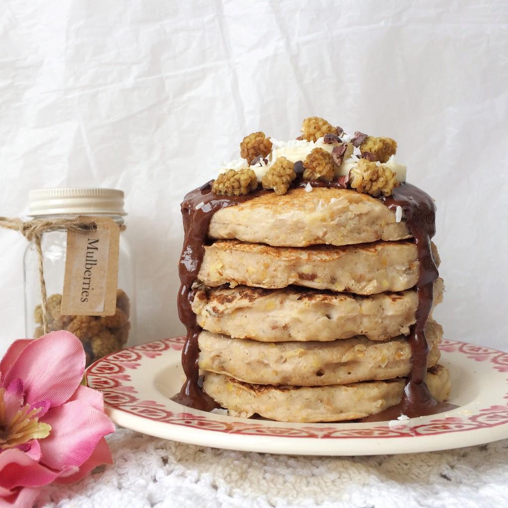 Banoffee Vegan Pancakes Oh My Oh My