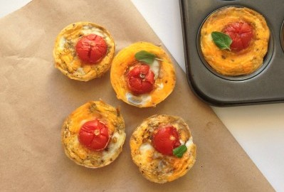 healthy Sweet potato tom tarts egg