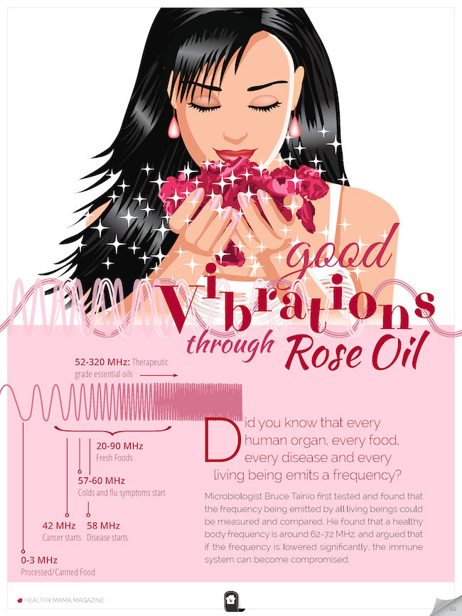 Good vibrations with rose oil