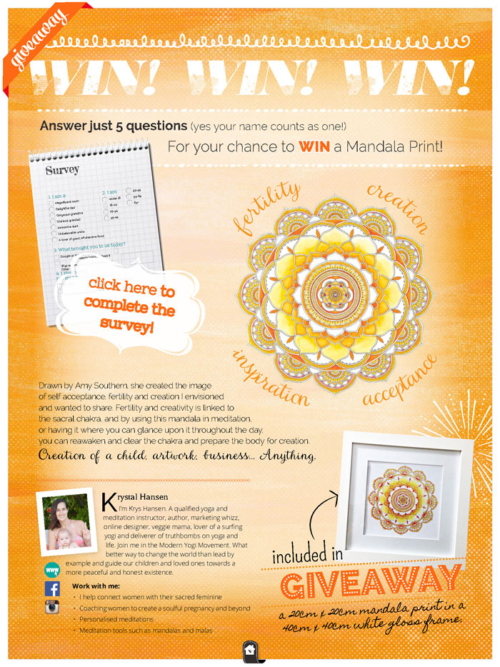 Mandala-giveaway-Healthy Mama Orange Edition
