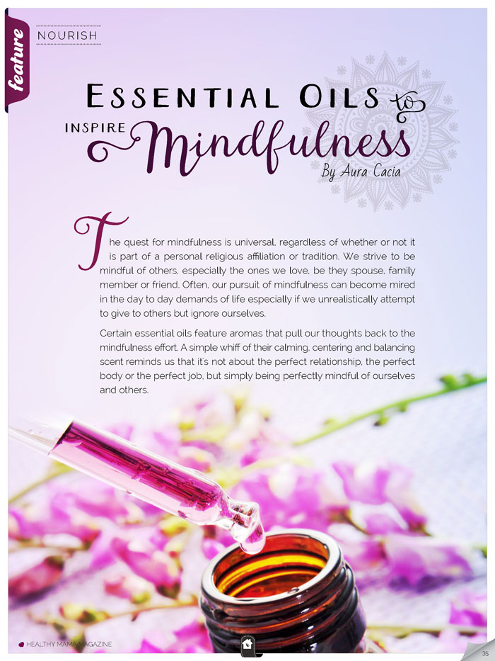 Essential Oils and Mindfulness - Healthy Mama Magazine
