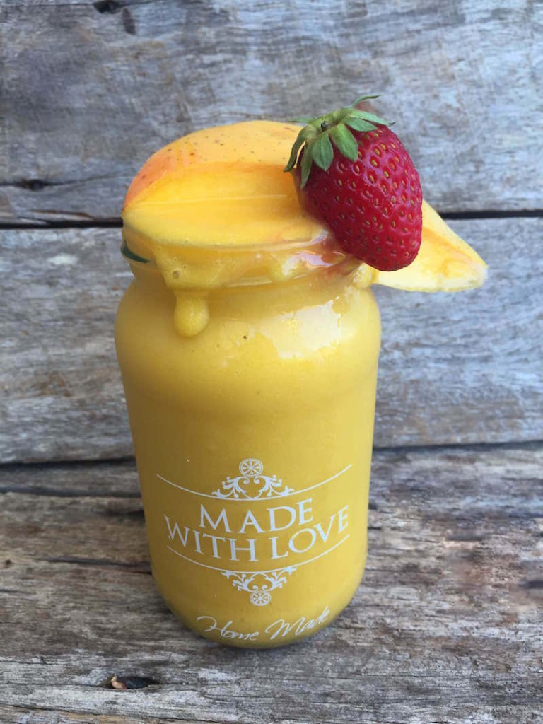 Mango and Banana Dairy Free Smoothie