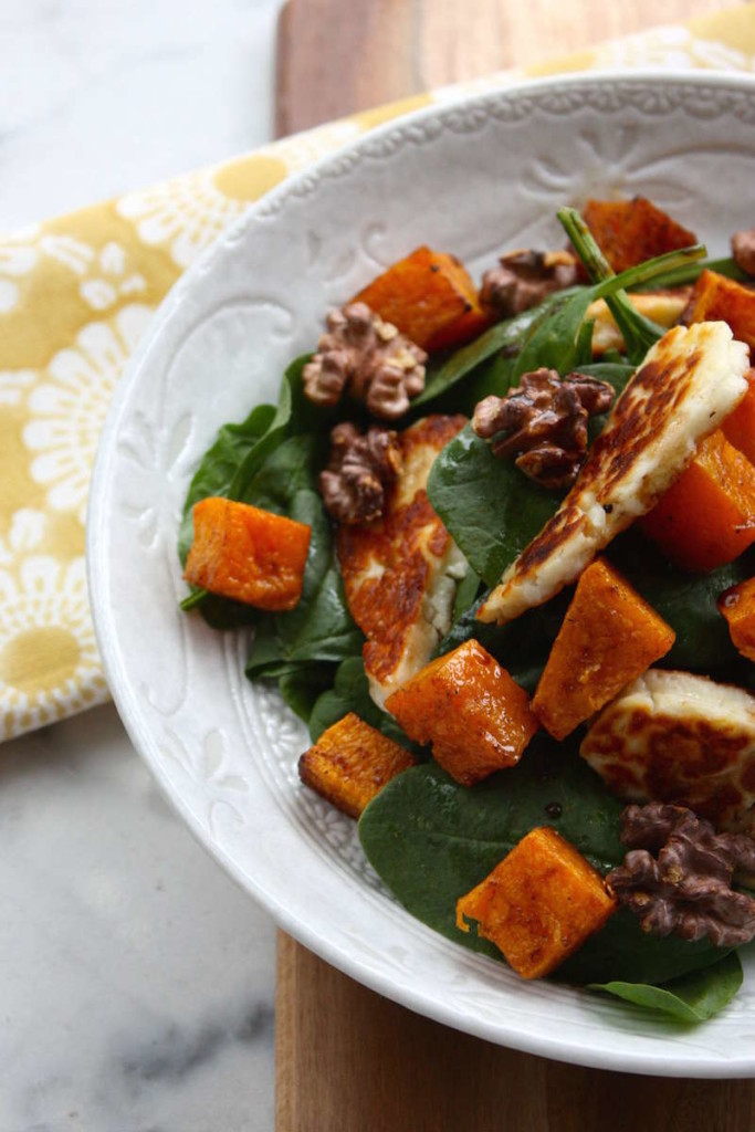 Super Salad – Spinach, Pumpkin and Haloumi