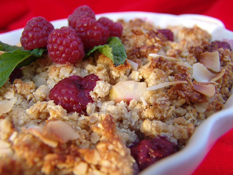 Apple Berry Crumble with Coconut