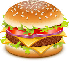 A - burger clipart - truth about himalayan salt